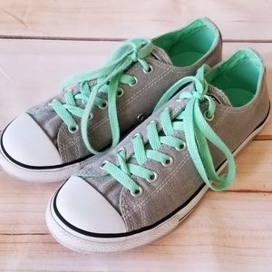 Converse Dainty Low Top Gray/Teal Sneakers 5